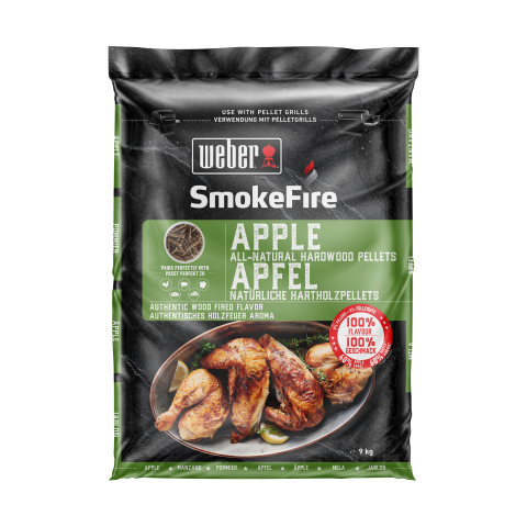 Pelety Weber SmokeFire Apple, 9 kg